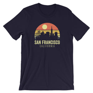 San Francisco California Vintage Sunset Retro T-Shirt