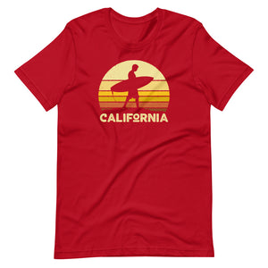 California Vintage Sunset Surfer T-Shirt