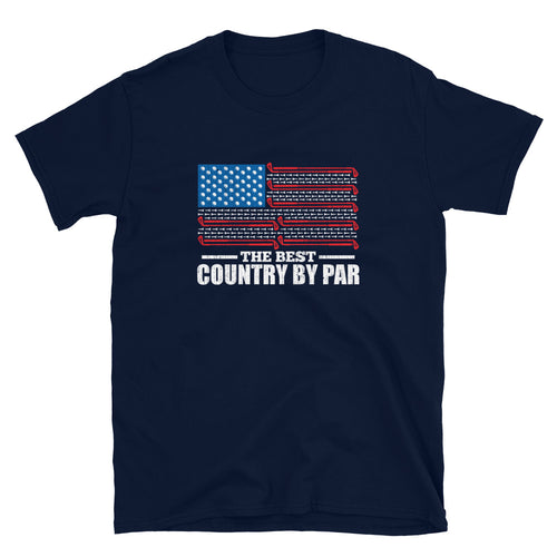 The Best Country By Par USA Flag Golf T-Shirt