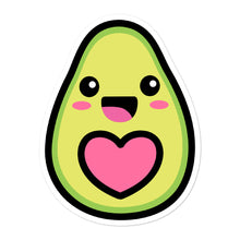 Load image into Gallery viewer, Cute Kawaii Happy Avocado Love Heart Stickers