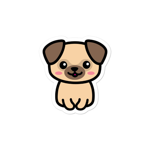 Cute Kawaii Pug Dog Lovers Stickers