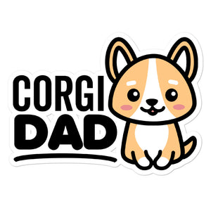 Corgi Dad Dog Lover Stickers