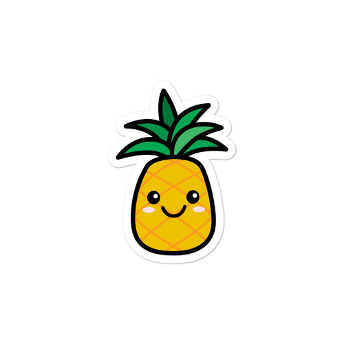 Cute Kawaii Pineapple Fruit Lovers Stickers