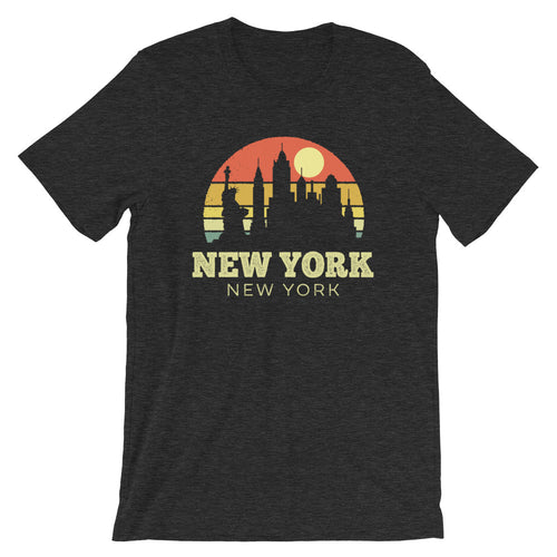 New York New York Vintage Sunset Retro T-Shirt