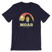 Load image into Gallery viewer, Moab Utah Vintage Sunset Arches T-Shirt