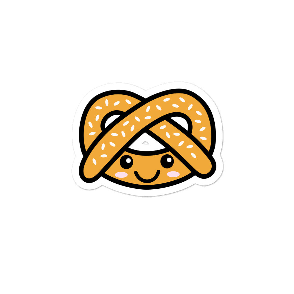 Cute Kawaii Pretzel Lovers Stickers