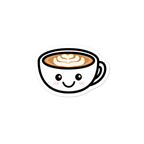 Cute Kawaii Coffee Lovers Latte Mug Stickers