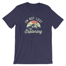 Load image into Gallery viewer, I'm Not Lost I'm Exploring Vintage Sunset Hiking T-Shirt