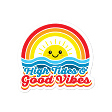 Load image into Gallery viewer, High Tides and Good Vibes Rainbow Kawaii Stickers