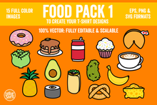 Load image into Gallery viewer, Vector Food Pack Artwork