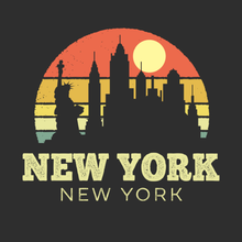 Load image into Gallery viewer, New York Vintage Sunset
