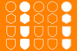 Vector badges and shapes