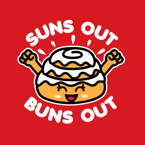 Suns Out Buns Out Cute Kawaii Roll