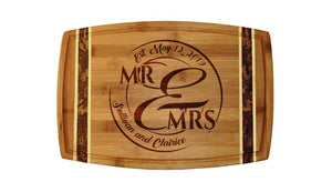 "18"" Bamboo with Marble Inlay, Mr and Mrs"