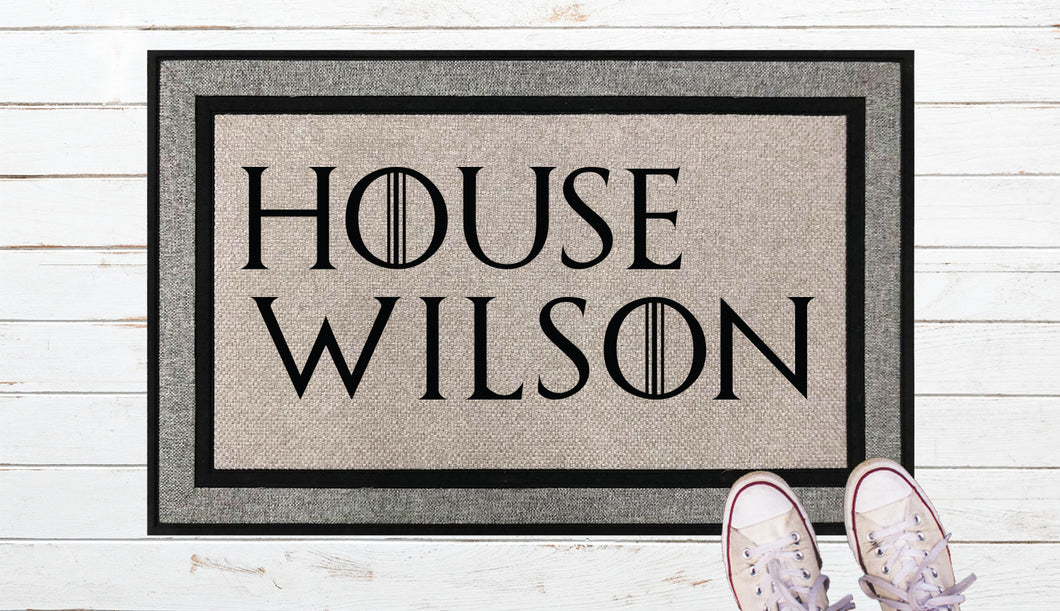 House Of, Games of Thrones inspired Door Mat