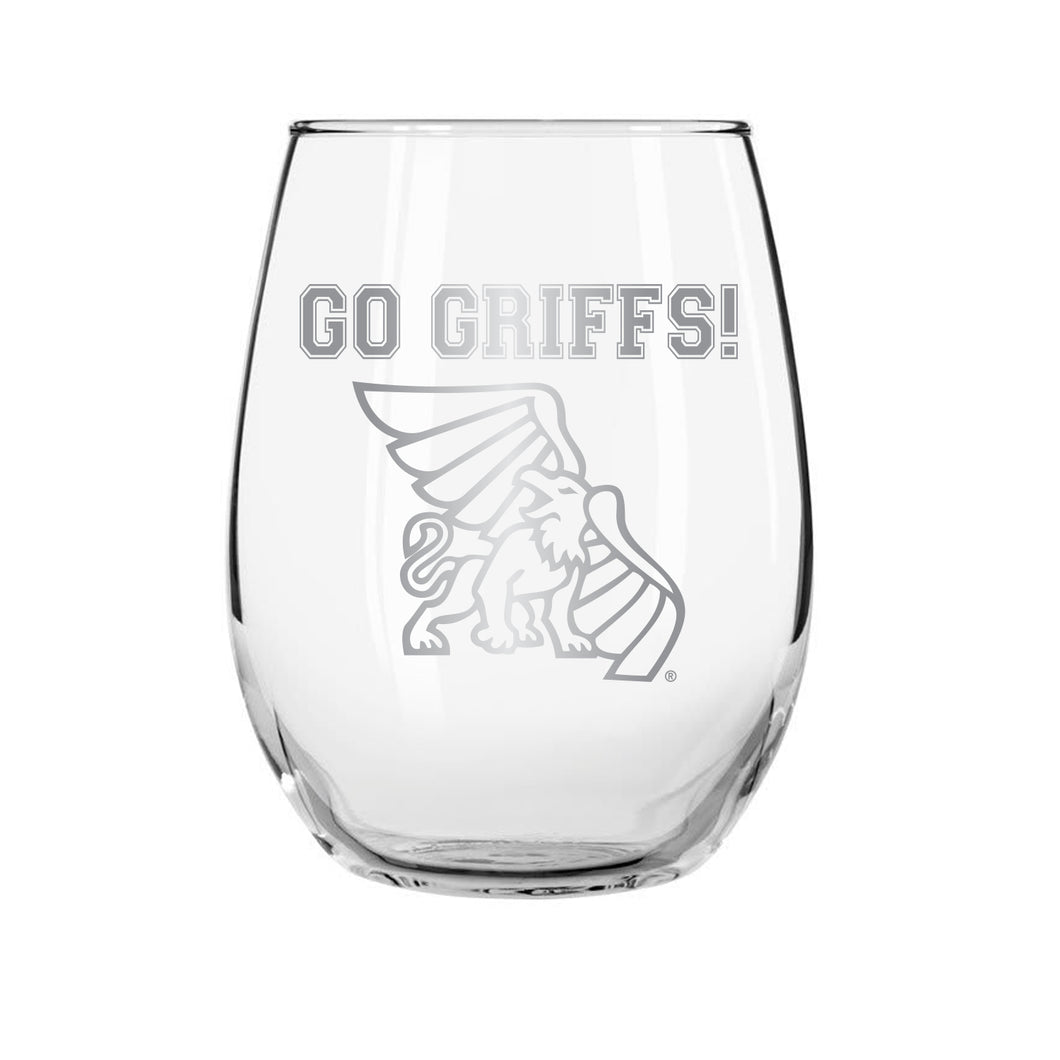 Go Griffs Stemless Wine Glass