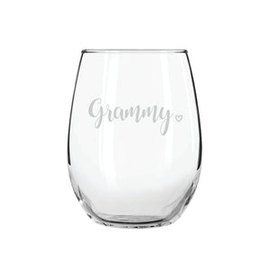 Grammy Stemless Wine Glass