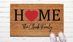 Heart Home Door Mat