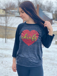 KC Heart Baseball Tee