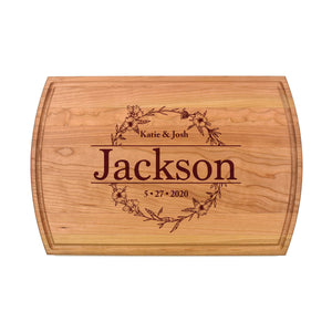 WOOD CUTTING BOARD WITH JUICE GROOVE