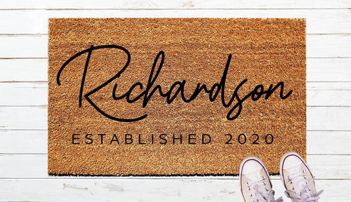 Personalized Door Mat-large name