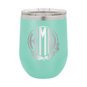 Shell Monogram Wine Tumbler