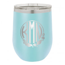 Load image into Gallery viewer, Shell Monogram Wine Tumbler