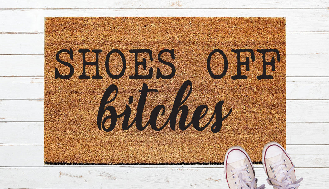 Shoes of Bitches Door Mat