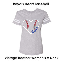 Load image into Gallery viewer, Heart Royals Baseball Tee