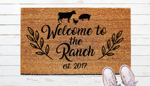 Welcome to the Ranch Door Mat