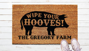 Wipe Your Hooves Door Mat