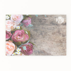 Flower Monogram Glass cutting board