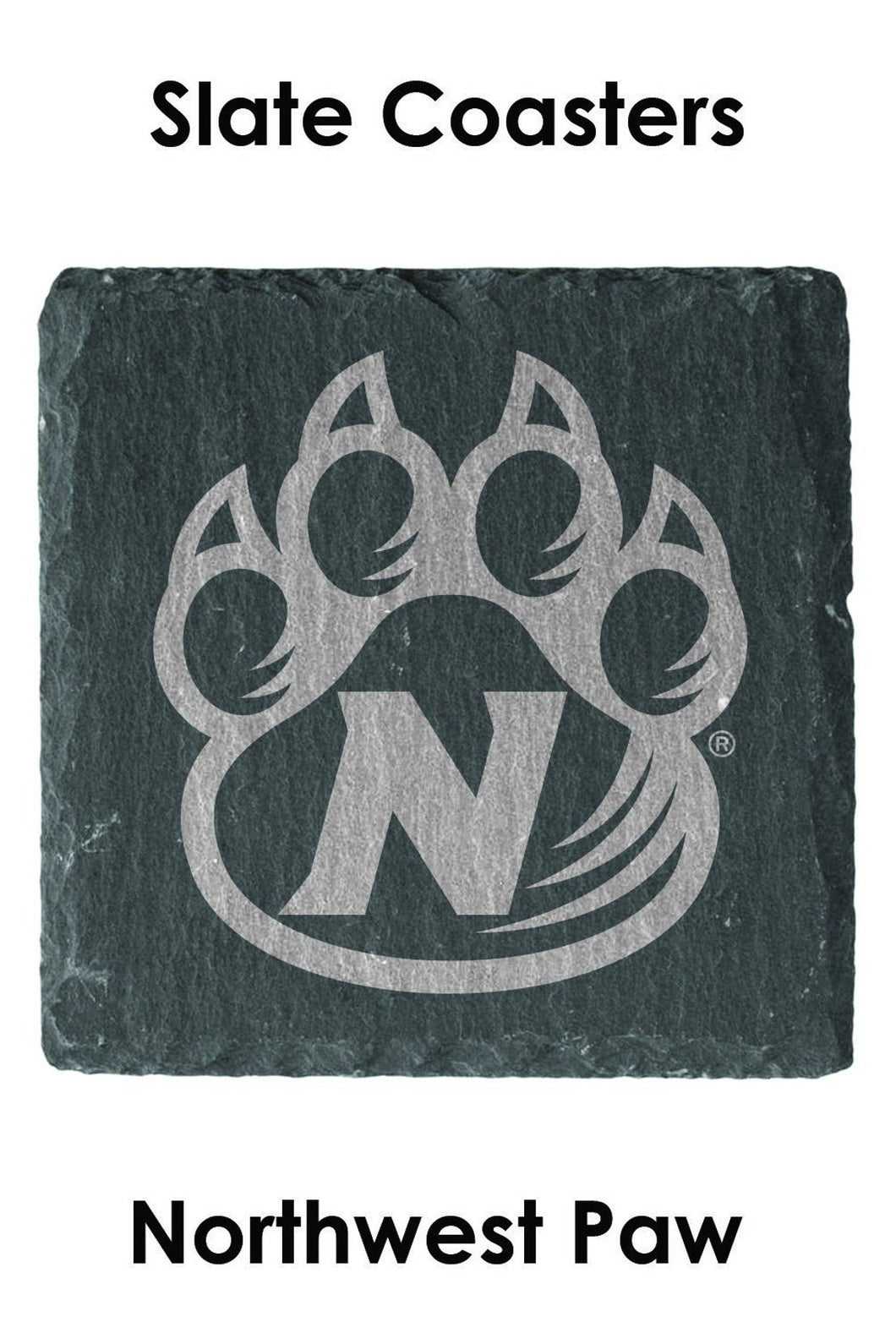 Northwest Paw Set of 4 Slate Coasters