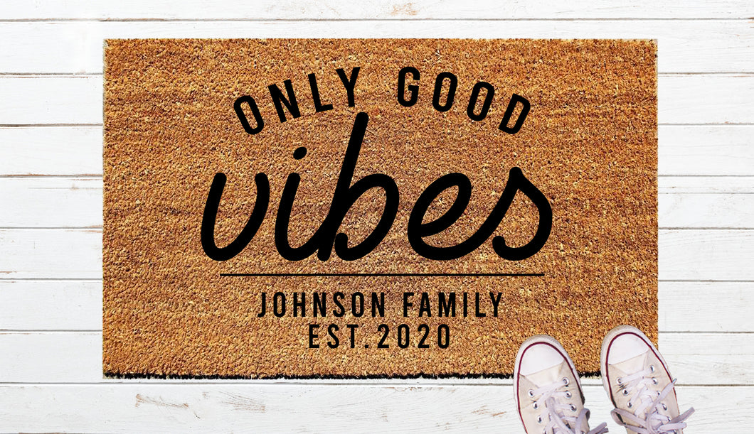 Good Vibes Door Mat