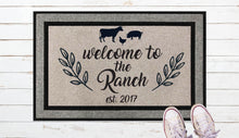 Load image into Gallery viewer, Welcome to the Ranch Door Mat