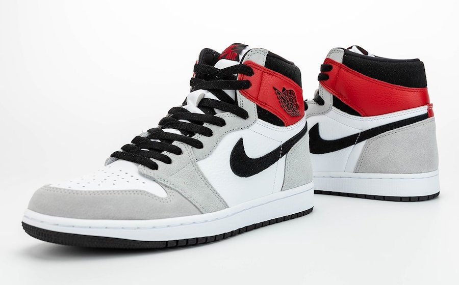"New Air Jordan 1 High OG ""Light Smoke"" Sneakers"