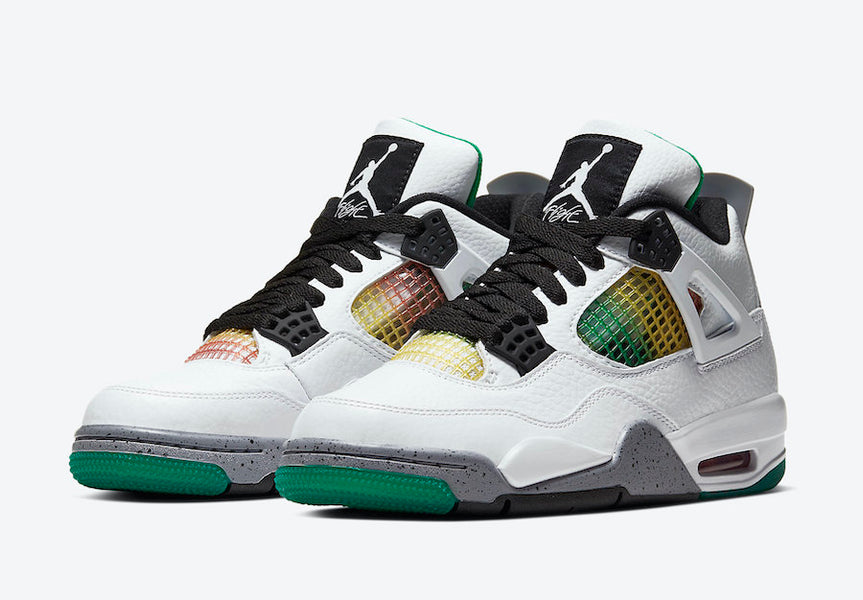 "New WMNS Air Jordan 4 ""RASTA"" SNEAKER"