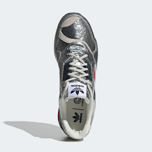 "New Adidas x Concept ZX900 ""Metallic Silver"" Sneakers"