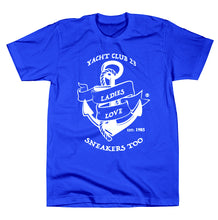 "Load image into Gallery viewer, LADIES LOVE SNEAKERS TOO™ ""Yacht Club 23"" T-SHIRT"