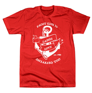 "*LADIES LOVE SNEAKERS TOO™ ""Yacht Club 23"" T-SHIRT"