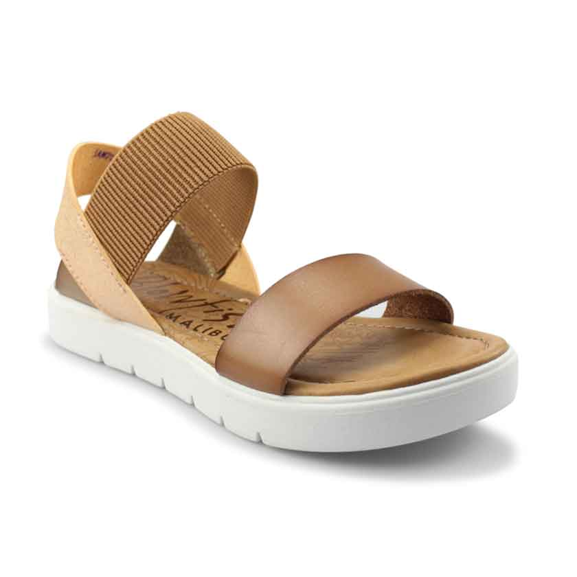 Blowfish Boss sandal in arabian sand-rose gold