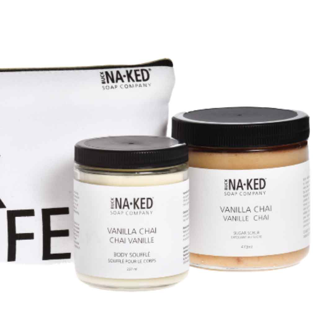 Vegan skincare products from Buck Naked at The Shops SD