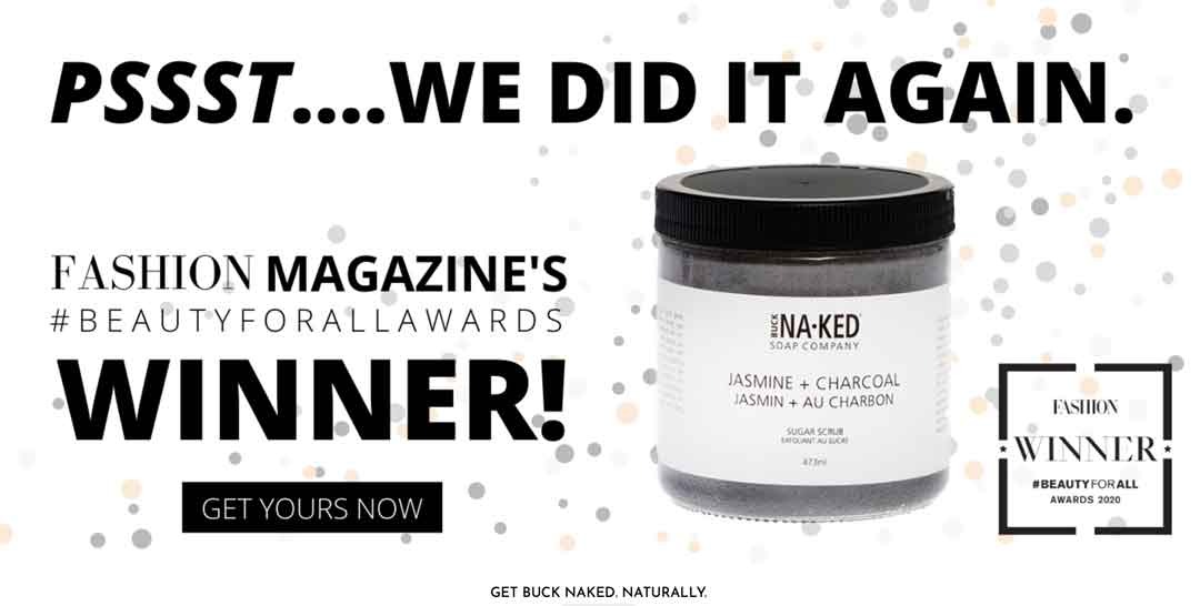 Buck Naked Soap Company vegan skincare wins award