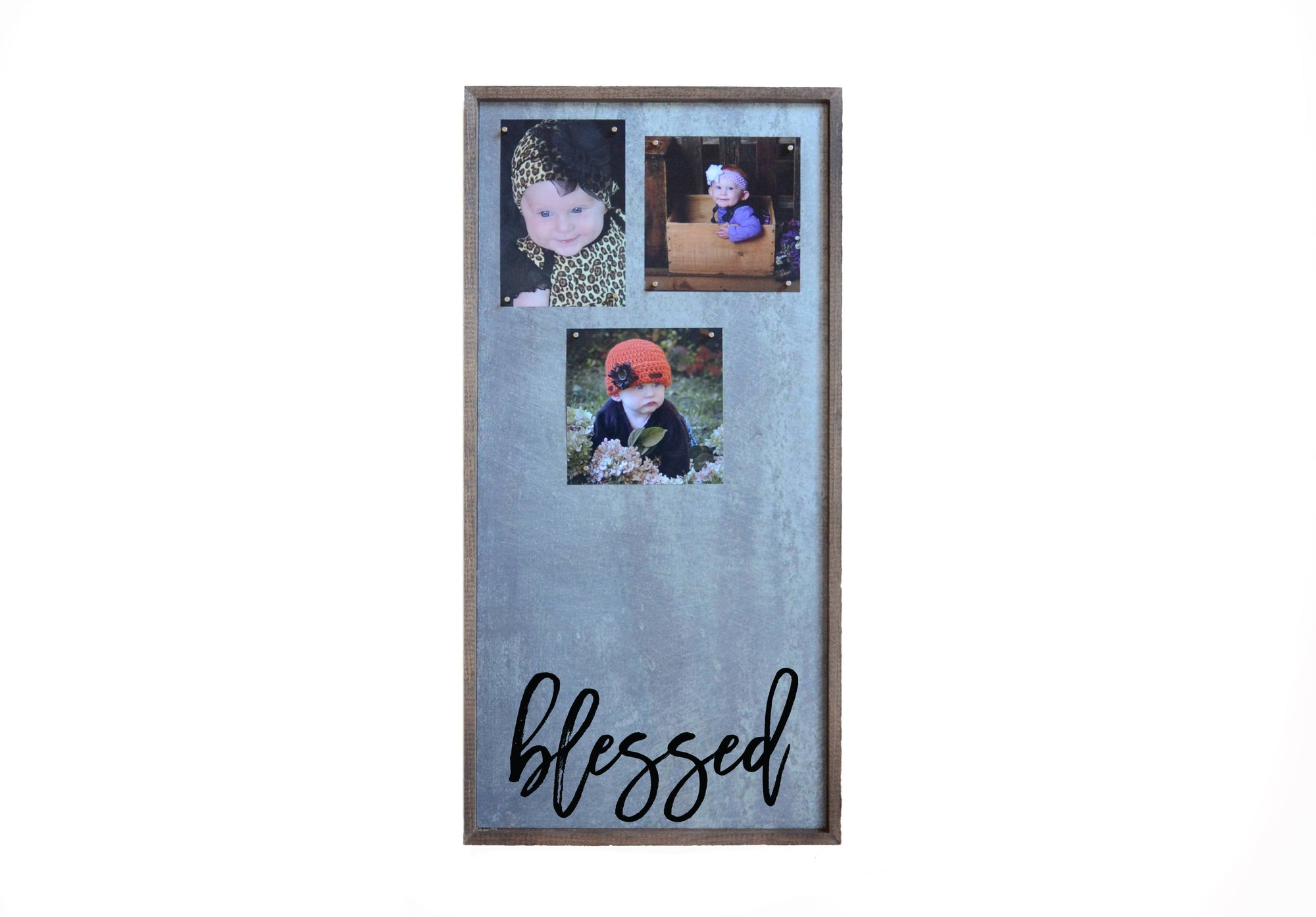 Magnetic Photo Frame - Blessed Vertical