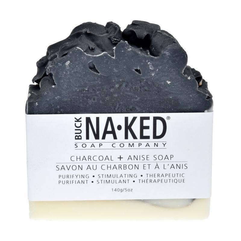 Charcoal & Anise Soap - 140g/5oz - Buck Naked