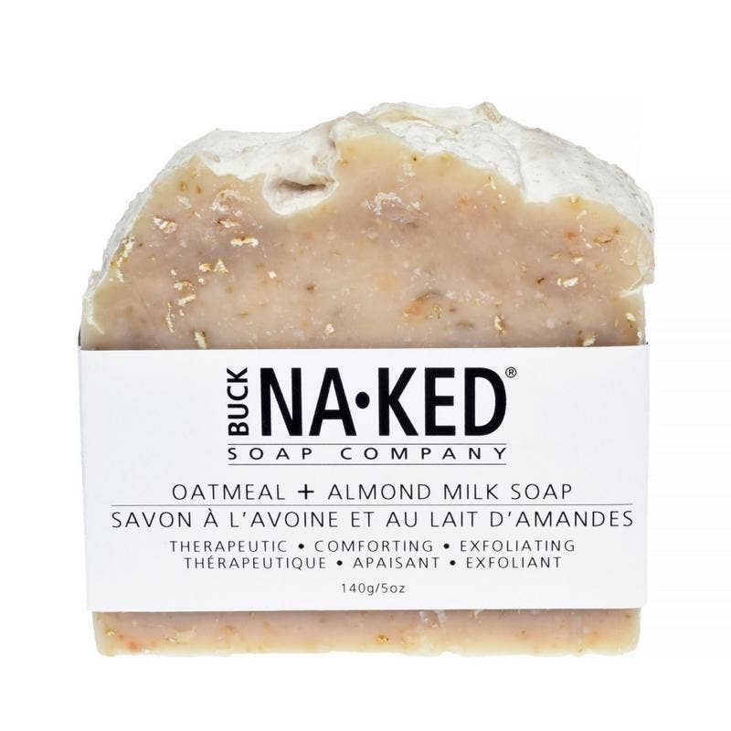Oatmeal & Almond Milk Soap - 140g/5oz - Buck Naked