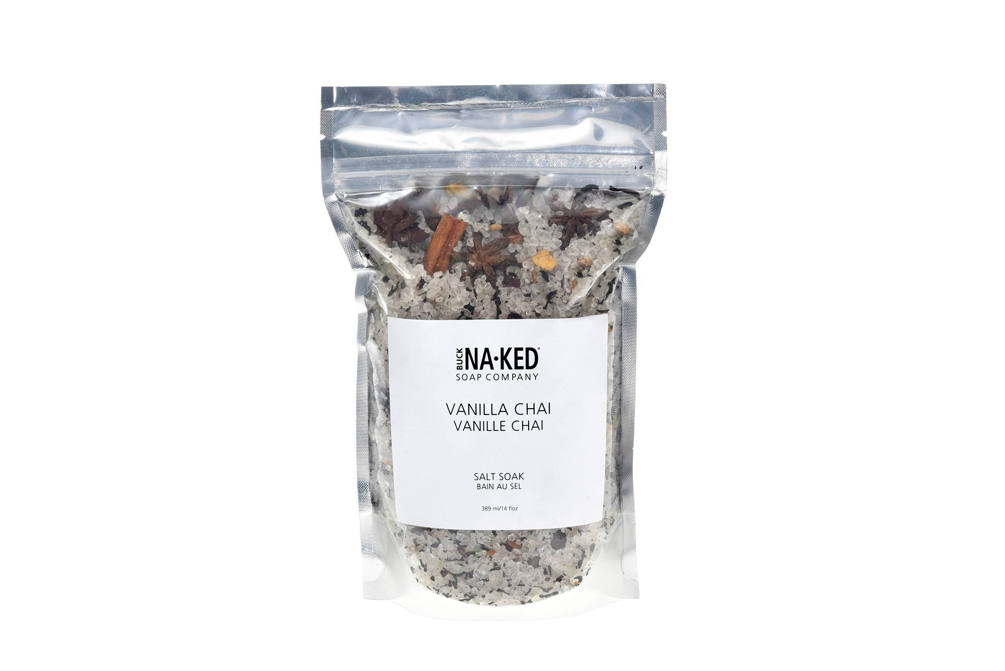 Vanilla Chai Salt Soak - 472 ml/16 floz - Buck Naked
