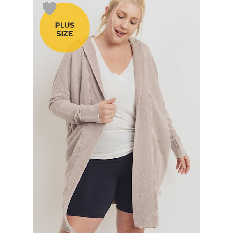 Mineral Wash Hooded Cardigan(2 Colors)