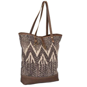 ART ON CANVAS TOTE BAG - MYRA BAG