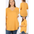 V NECK 3/4 SLEEVE TEE-3 COLORS